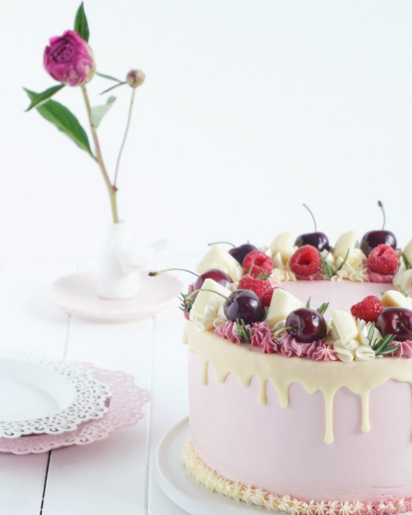 Cherry Drip Cake