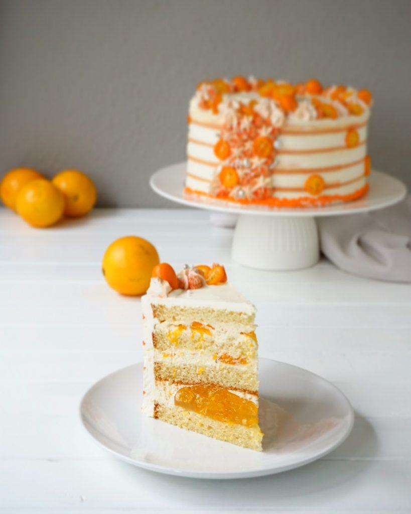 Mandarinen Torte zum Geburtstag