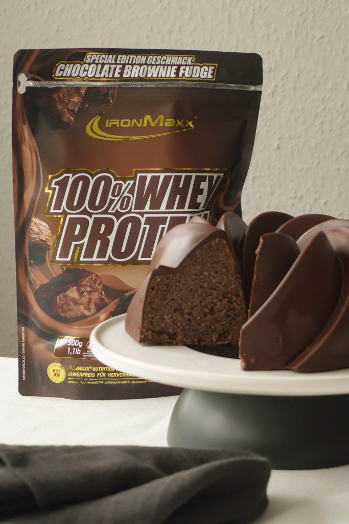 Protein Schoko Brownie Gugelhupf